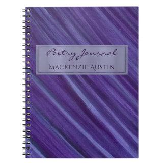 Cadernos Espiral Poesia roxa da ameixa | do monograma indiferente