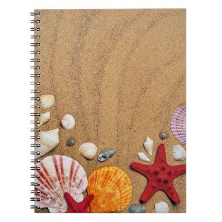 Cadernos Espiral Porta copos da pedra do Sandy Beach da estrela do