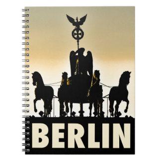 Cadernos Espiral Porta de Brandemburgo do Quadriga 002,1 de BERLIM
