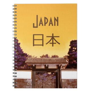 Cadernos Espiral Porta do templo em Tokyo, Japão
