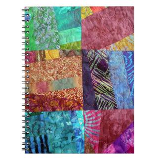 Cadernos Espiral Quadrados estofando do Batik criativo do falso