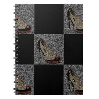 Cadernos Espiral Saltos altos Textured