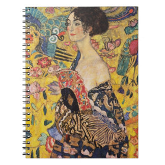 Cadernos Espiral Senhora de Klimt com belas artes do fã