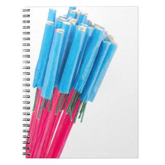 Cadernos Espiral Setas do fogo do grupo para a véspera de ano novo