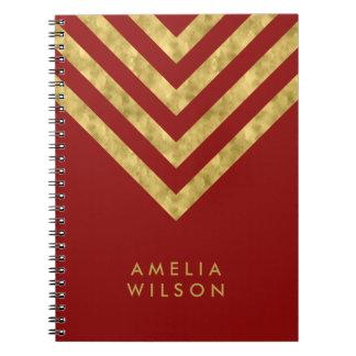 Cadernos Espiral Teste padrão conhecido vermelho elegante de