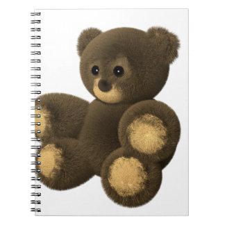 Cadernos Espiral Urso de ursinho peludo bonito