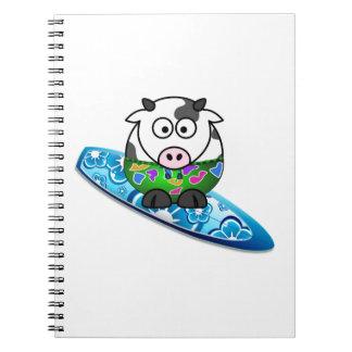 Cadernos Espiral Vaca do surfista