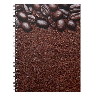 Cadernos Feijões de café - modelos personalizados feijão de