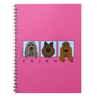 Cadernos Friends: Spinone Italiano, Tervueren, Bloodhound