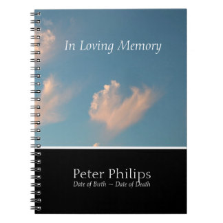 Cadernos GuestBook da relembrança do memorial da nuvem 2 da