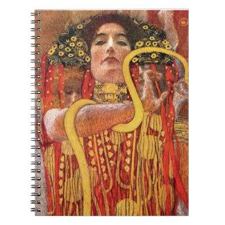 Cadernos Gustavo Klimt - deusa da medicina de Hygieia da