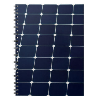 Cadernos Imagem de um painel de energias solares engraçado