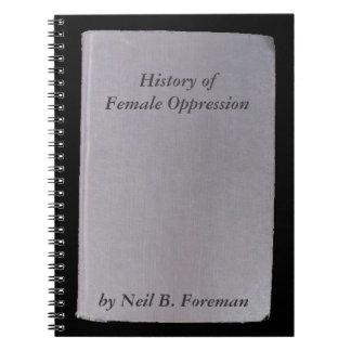 Cadernos Livro falso, opressão 6 engraçada do autor não