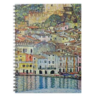 Cadernos Malcesine no lago Garda por Gustavo Klimt