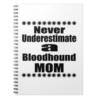 Cadernos Nunca subestime a mamã do Bloodhound