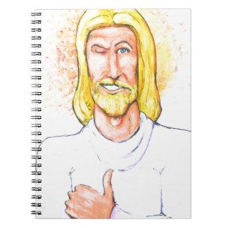 Cadernos Os polegares levantam Jesus