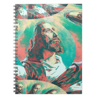 Cadernos Paz Posterized da pomba do Fractal do Jesus Cristo
