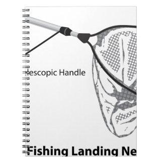 Cadernos Rede de aterragem para pescar a ilustração marcada