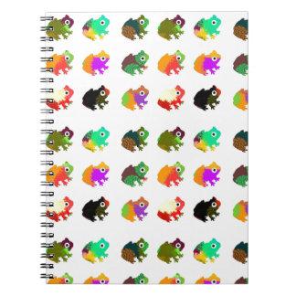 Cadernos Sapos do arco-íris