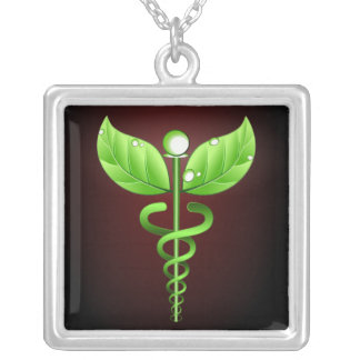 Caduceus: Colar do quadrado da medicina