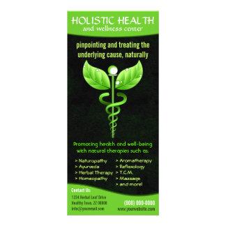Caduceus holístico do verde da medicina 10.16 x 22.86cm panfleto