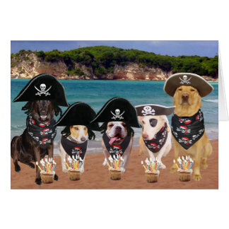 Cães aniversário engraçado do 19 de setembro cartão comemorativo