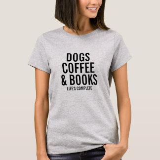 Cães café & texto feito sob encomenda dos livros o t-shirt
