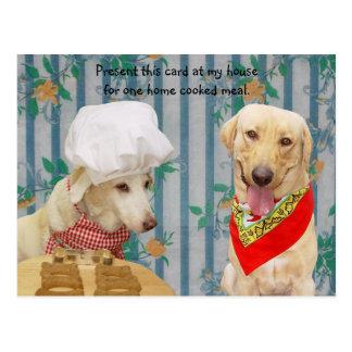 Cães/convite engraçados cartão do laboratório cartão postal