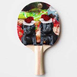Cães de Labrador do Natal Raquete De Ping-pong