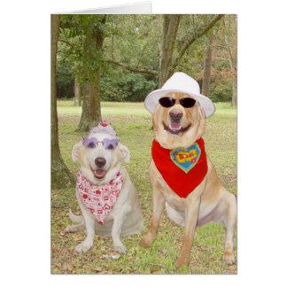 Cães engraçados customizáveis cartoes