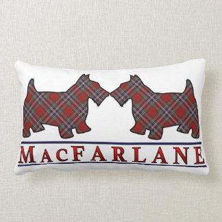 Cães escoceses do Scottie do Tartan de MacFarlane Almofada Lombar