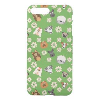 Cães & flores capa iPhone 8 plus/7 plus