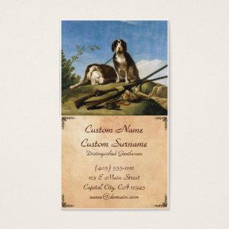 Cães na obra-prima de Francisco José de Goya da Cartão De Visitas