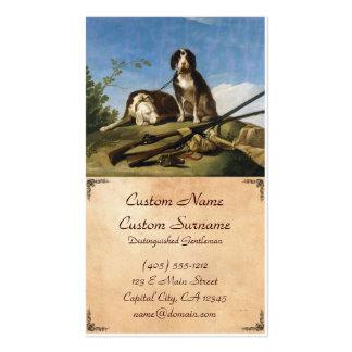 Cães na obra-prima de Francisco José de Goya da tr Modelo De Cartões De Visita