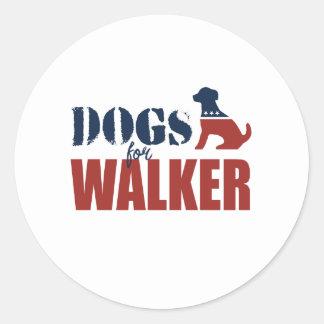 Cães para o caminhante de Scott Adesivos Em Formato Redondos
