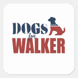 Cães para o caminhante de Scott Adesivos Quadrados