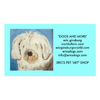 cães pelo ginsburg de eric modelos cartão de visita