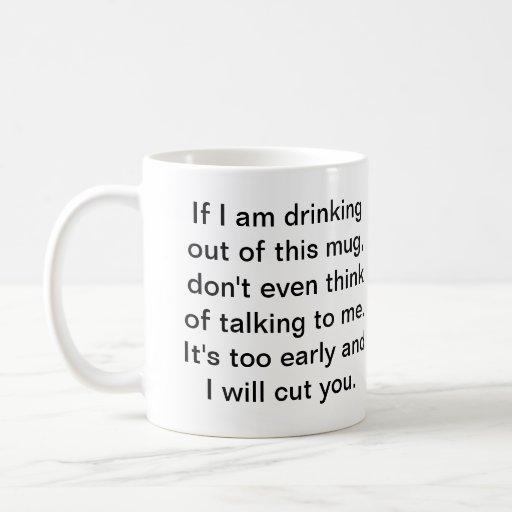 Café antes da conversação segura caneca