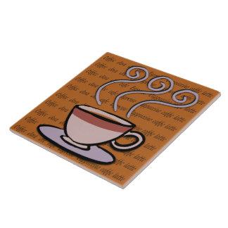 Café - azulejo Pastel/Trivet do design da caneca