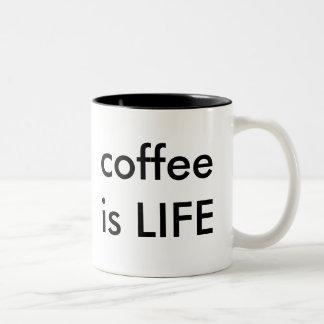 café caneca dois tons