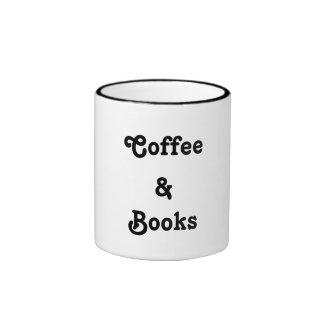 Café caneca dos livros