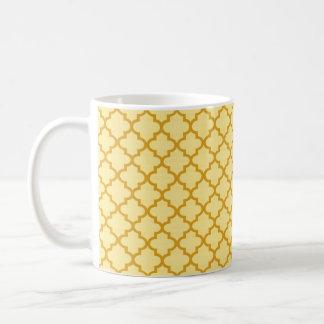 Café chique geométrico do azulejo marroquino caneca de café