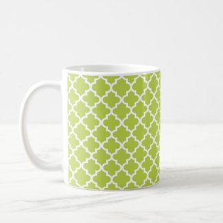 Café chique geométrico do azulejo marroquino verde caneca de café