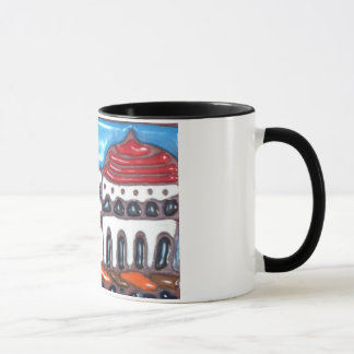 Café da caneca do azulejo do casino da ilha de