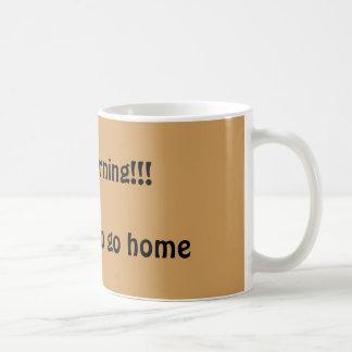 Café da manhã caneca de café