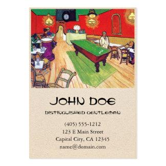 Café da noite em Arles por Vincent van Gogh Cartão De Visita Grande