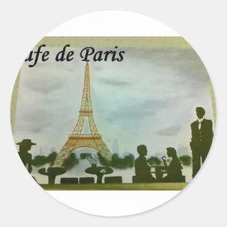 café de Paris Adesivos Em Formato Redondos