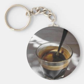 Café do café com a casca do rum, do açúcar e de chaveiro