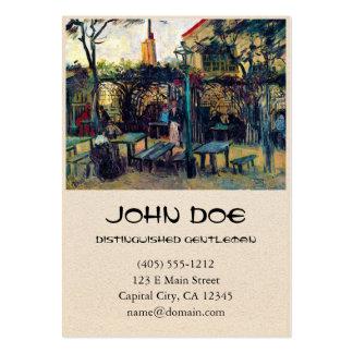 Café do terraço em Montmartre Vincent van Gogh Cartão De Visita