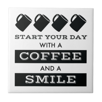 Café e azulejo do sorriso